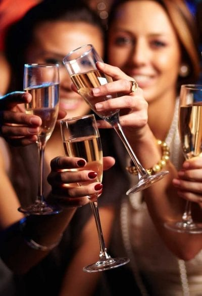 Ladies with Prosecco