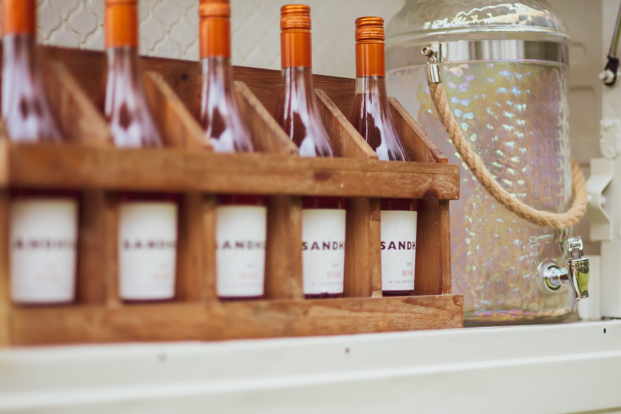 Sandhill Rose Wine - Served on Prosecco Cart